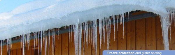 Çatı Oluk Isıtma, Kar Buz Önleme