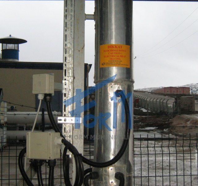 Isıtıcı Kablo ile boru ısıtma uygulaması